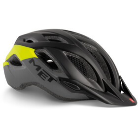 MET Crossover Cykelhjelm, black safety yellow